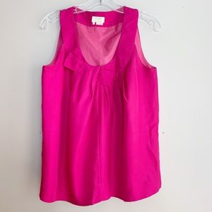 Kate Spade Silk Bow Sleeveless Top Women's Small